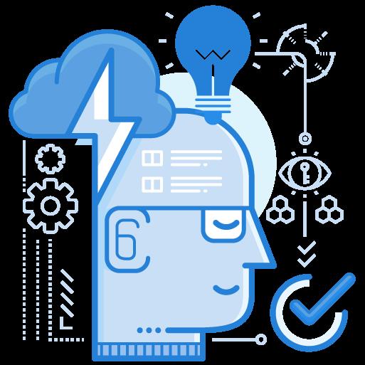 Man with idea illustration