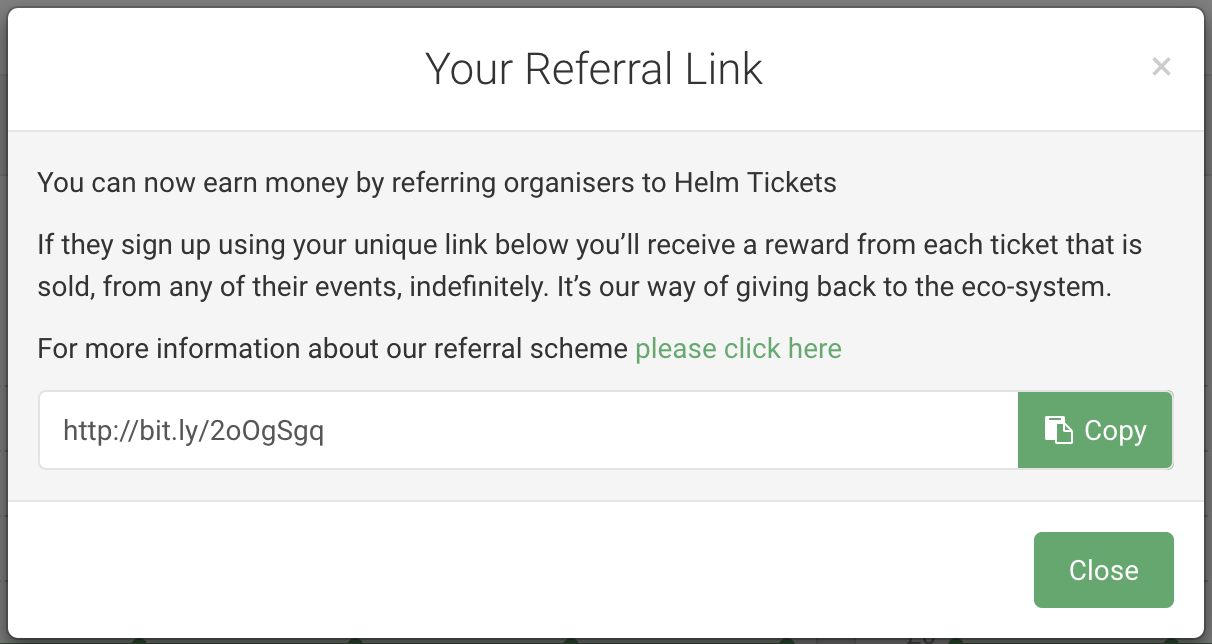 Your Helm Referrals link